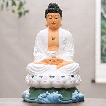 Китайская позолоченная статуя Будды Шакьямуни Amitabha Будда, аптекаря Будды, смоляная простая куртка Будды, домашний декор