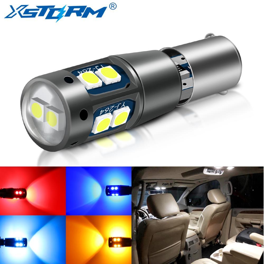 1 шт. BA9S BAX9S BAY9S Светодиодная лампа H21W H6W T4W T11 Led Canbus Габаритные фонари для автомобиля номерной знак авто лампа 12 В белый красный желтый синий
