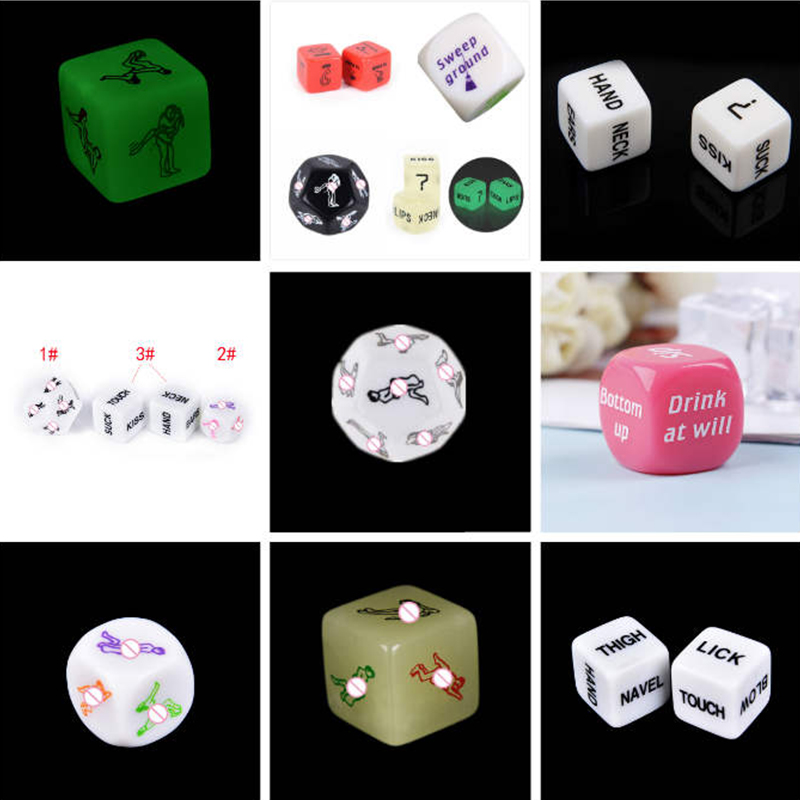 12 Styles Sex Dice Fun Adult Humour Game Erotic Love Sexy Posture Bar Toy  Erotic Craps Pipe For Couples Dice Game