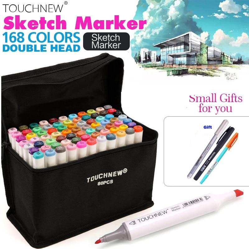 UK 40 Color Dual Head Art Marker Set Alcohol Sketch Markers Pen Kids Artist Gift