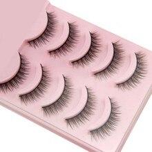 2019 Hot 5 Pairs popularne naturalne krótkie sztuczne rzęsy codzienne rzęsy dziewczyny makijaż niezbędne Wimper Extensiofor