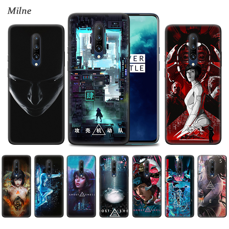 <font><b>Ghost</b></font> <font><b>in</b></font> <font><b>the</b></font> <font><b>Shell</b></font> <font><b>Case</b></font> for OnePlus 7 7T Pro 5G 6T 6 Soft Black Phone Cover One Plus 7Pro 7TPro Oneplus7 Oneplus7T Coque Sac image