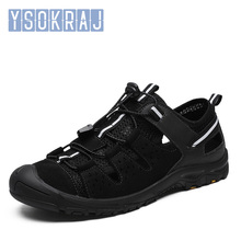 Bahar erkekler açık sandalet ekose yaz rahat rahat kaymaz yürüyüş trekking ayakkabıları plaj balıkçılık sandalet büyük boy 38  46
