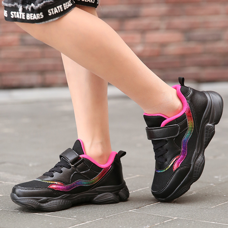 Girls' Shoes Fashion New Shoes Students Running Shoes Children's Lightweight Casual Baby Sports Shoes