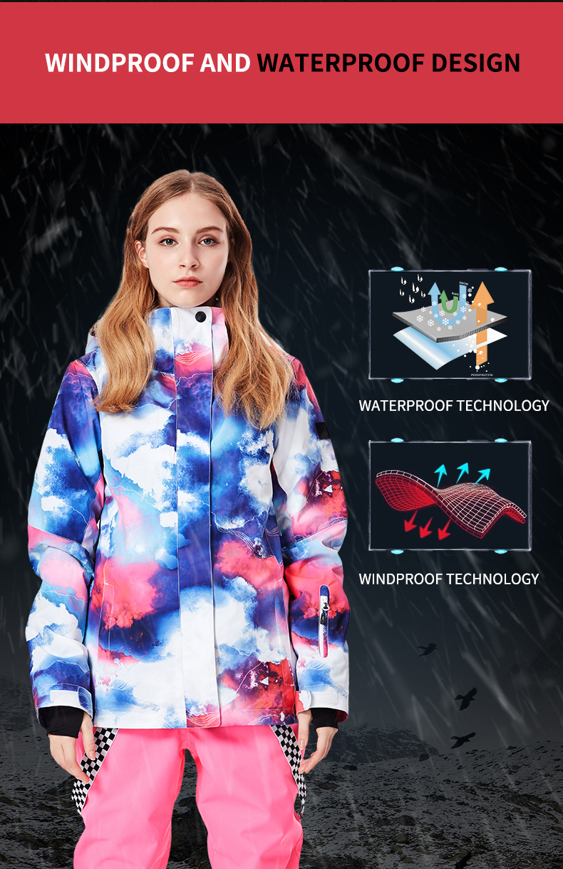 Новинка, зимняя женская лыжная одежда с двойным бортом, одежда для альпинизма, ветронепроницаемые теплые зимние штаны, женская спортивная одежда