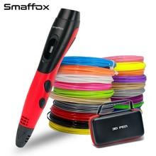 Оригинальная 3D Ручка smaffox, 18 цветов, 54 метра, нити, 3D принтер, ручки с ЖК-дисплеем, ручка для рисования, 3D формование