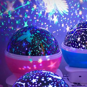 Image 2 - LED Star Projector Moon Night Light Sky Rotating Lamp Projection LED Lights for Kids Bedroom Decoration Children Gift