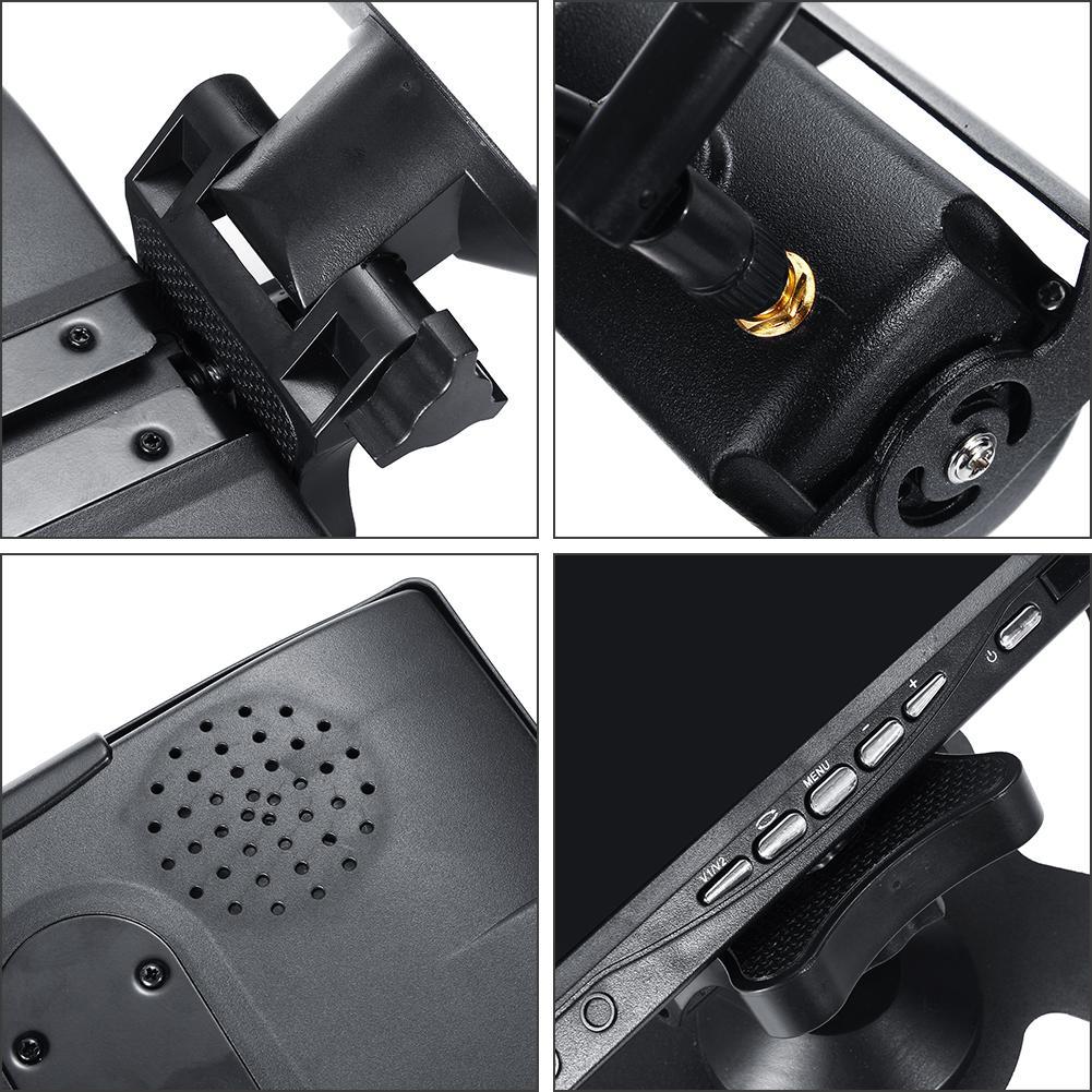 7 pouces voiture moniteur 2.4G camion surveillance Vision nocturne inversion sans fil double caméra 9-36v plate-forme affichage pour camion 12V 24V - 2