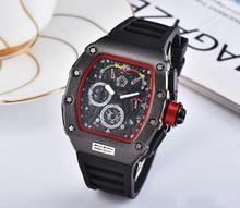 Jakość AAA Top Luxury Brand RM wodoodporny zegarek męski DZ Richard zegarki automatyczne zegarki na rękę Mille Man najlepsze prezenty dla mężczyzn tanie tanio Nicesnowl universalinch Luxury ru QUARTZ 10Bar Przycisk ukryte zapięcie Wolfram stali Szafirowe Nie pakiet Silikon Skrzyni ładunkowej