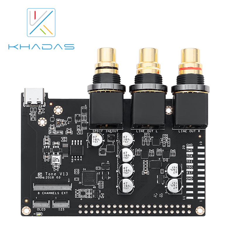 Hifi Borad With 32-Bit Stereo Mobile Audio DAC ES9038Q2M Khadas Tone Board Of Generic Edition