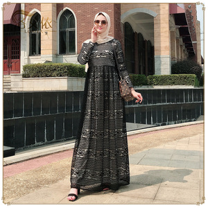 Muslim Kaftan Abaya Dress Women Lace-up Lace Big Swing Dubai Arab Party Long Abaya Hijab Dresses Loose Jubah Turkey Clothing New