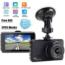 цена на 3 inch 1080P Full HD Car Driving Recorder Dash Camera 170 Degree Wide Angel Car DVR G-sensor Night Vision With Reversing Camera