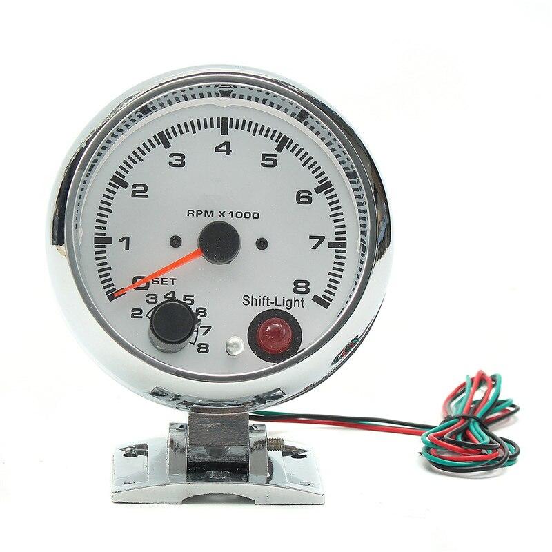 0 ~ 8000 tr/min 7 couleurs LED rétro-éclairage tachymètre jauge WhiteWorks sur 4 6 8 moteurs de cylindre universel convient au véhicule à essence 12V - 3