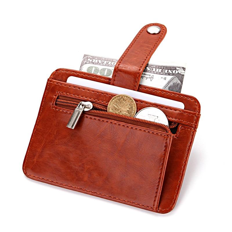 Vintage Small Wallet For Coins Card Men Carteras Hombre 2020 New Small Money Bag Credit Card Holder Coin Pocket Purse Men Black
