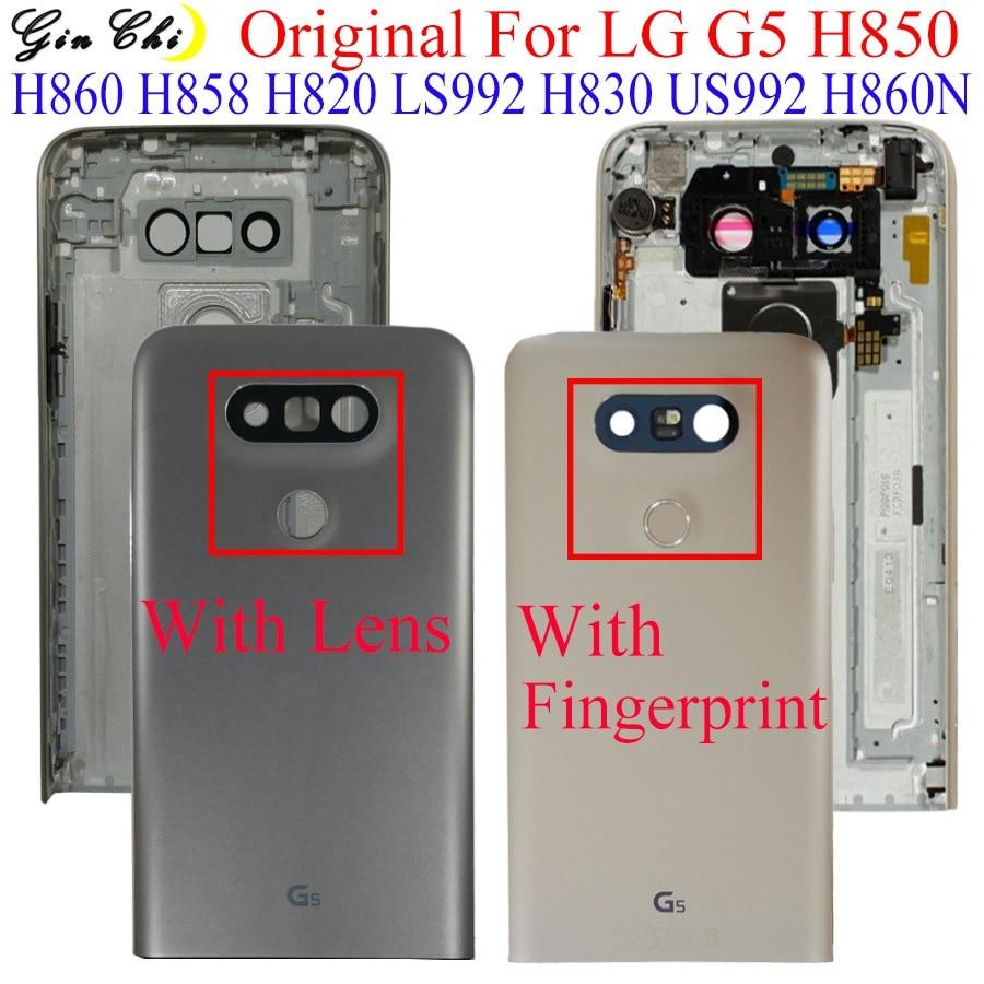 Original For LG G5 Battery Cover Door For LG G5 H850 LS992 H860N Back Battery Cover With Camera Lens And Fingerprint G5 Housing