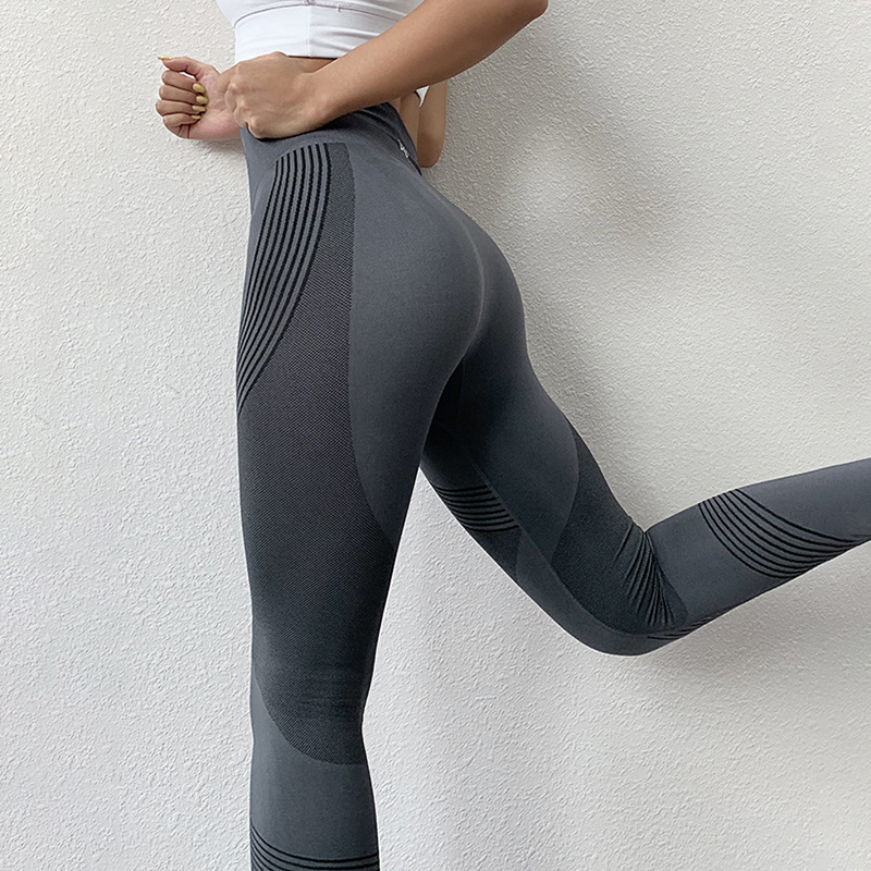 NORMOV Nahtlose Frauen Leggings Casual Hohe Taille Push-Up Knöchel Länge Leggings Workout Jeggings Patchwork Fitness Leggings Gril