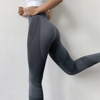 NORMOV Seamless Women Leggings Casual High Waist Push Up Ankle Length Leggings Workout Jeggings Patchwork Fitness Leggings Gril