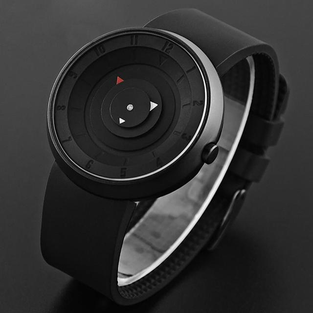 2020 Creative Watches Men Big Dial Sport Watches Paidu Black Silicone Quartz Wristwatches Cheap Price Free Shipping Reloj Hombre