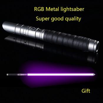RGB Metal lightsaber light saber kpop lightstick espada laser sword cosplay  luminous blade shinee toys color changing sound