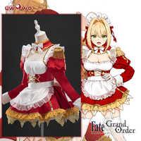 Pre-Vendita Uwowo Anime Fate/Grand Ordine Nero Vestito Cameriera Bella Sexy Uniforme Costume Cosplay Hallowee Vestito per delle Donne