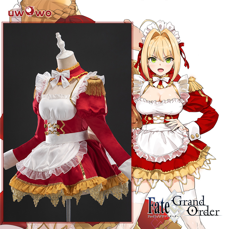 Pre-sale Uwowo Anime Fate/Grand Order Nero Maid Dress Lovely Sexy Uniform Cosplay Costume Hallowee Suit For Women