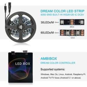 Image 5 - WS2812B Tira de luz LED Ambilight, USB, HDTV, retroiluminación para Pc, Monitor de luces de escritorio, cinta de neón RGB, Ws2812, lámpara Fita