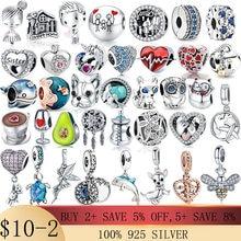 New Style Snake fox owl Charms Design Beads Fit Pandora charms silver 925 original Bracelet for WomenDIY Fashion Pendant Jewelry