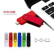 Pen drive usb 2,0, 4gb, 8gb, 16gb, 32 gb, lápiz de memoria usb, 64gb, OTG unidad flash usb de metal para teléfono android