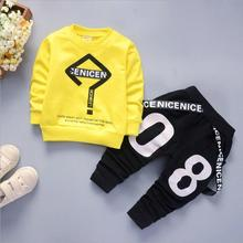 NEW Girls Outfit Cartoon Print Boys Clothes 2pcs/set Children Clothing sets Boys Long Sleeve Shirts Pants kids Autumn Clothing