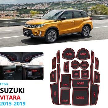 Противоскользящий резиновый подстаканник со слотом для ворот для Suzuki Vitara 2015 2016 2017 2018 2019 LY Escudo Sport Coaster аксессуары автомобильные наклейки