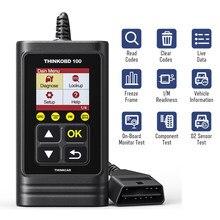 THINKOBD-lecteur de Code de voiture, panne de moteur MIL, arrêt MIL, capteur O2/EVAP, Test DTC, verrouillage, identique au CR319, 100 OBD2