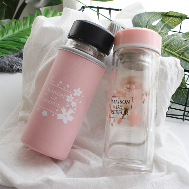 Double layer glass borosilicate thickened gift cup transparent heat insulating cup in Engraving from Home Garden