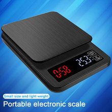 Mini LCD Digital Electronic Drip Coffee Scale with Timer 5kg 0.1g Digital coffee weight Household Drip Scale Timer(China)