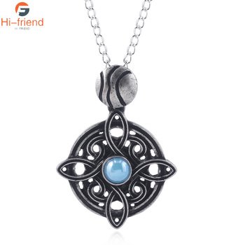Game The Elder Scrolls Amulet of Mara Necklace the elder scrolls v game Pendants Dinosaur Triangle Cosplay Men Jewelry image