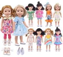 1 комплект одежды для кукол 145 дюйма милая повседневная одежда
