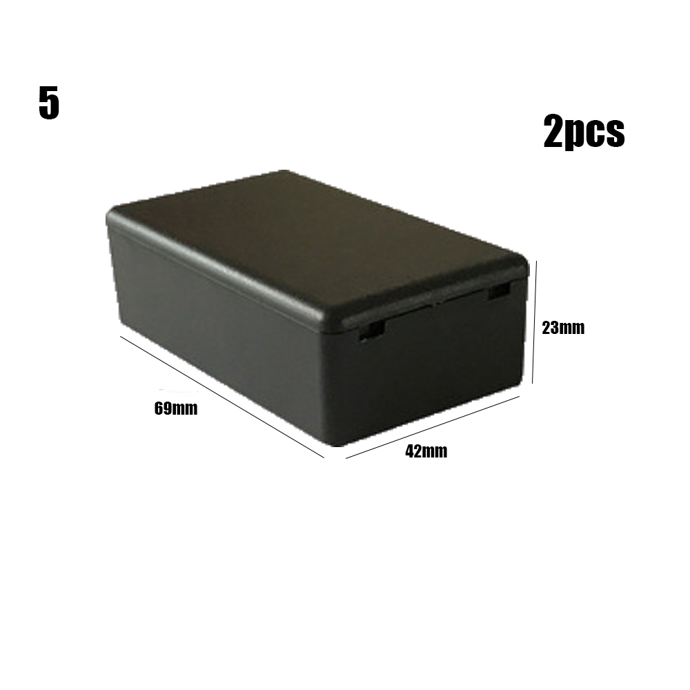 2 шт. высококачественный пластиковый водонепроницаемый черный ящик DIY корпус чехол для инструментов пластиковый электронный ящик для проекта электрические принадлежности - Цвет: 2pcs Style 5
