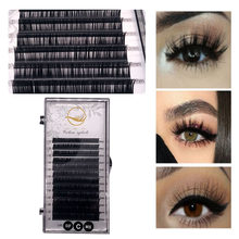 7 12 12mm mix individual cílios falsos extensões naturalmente-artificial premium falso vison cílios maquiagem beleza