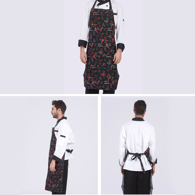 Unisex Apron Adjustable Half-length Adult Apron Hotel Chef Waiter Apron Kitchen Cook Apron With 2 Pockets фартук для кухни 4