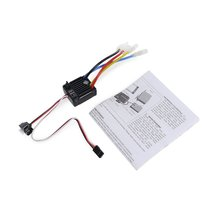 все цены на Hot1060 2-3S 60A Waterproof Brushed ESC with BEC 5V/2A for 1/10 RC Tamiya Traxxas Redcat HPI RC Car Parts Accessories онлайн