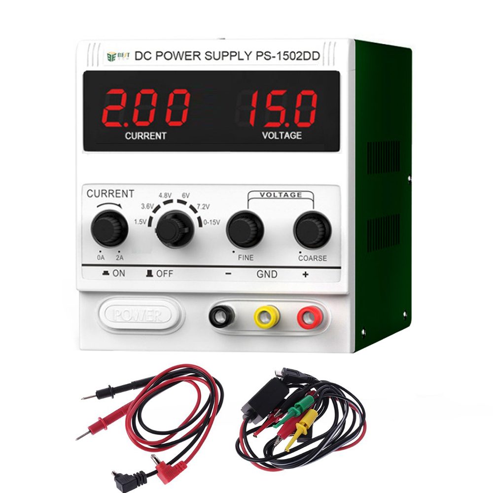 BEST 1502DD Mobile Phone Repair Dedicated Power Supply Adjustable Power Supply 15V2A High-Precision DC Stabilized Voltage Source
