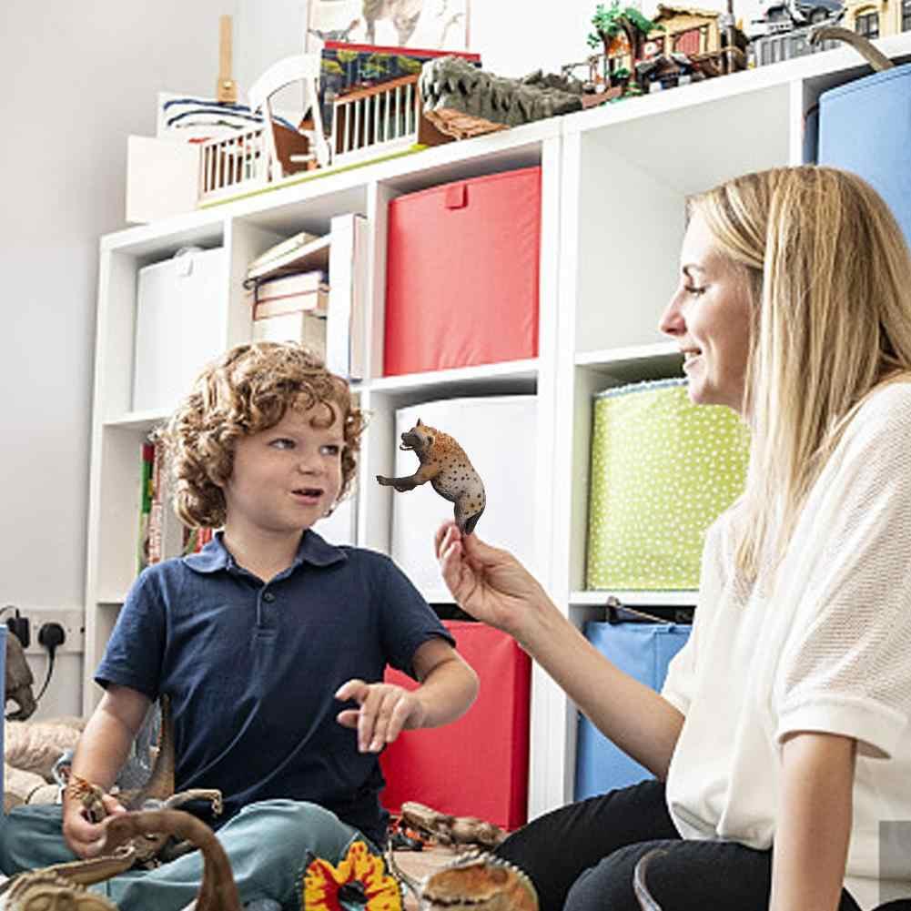 3.4 بوصة الاصطناعي البرية الحيوان PVC الضبع نموذج الشكل Kids Preschool تمثال لعبة 14735 نماذج للحيوانات عمل الشكل البلاستيك ديكور