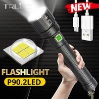 2020 regalo de Año Nuevo XHP90.2 linterna Ultra potente 18650 LED XLamp USB recargable XHP70 luz táctica 26650 Zoom linterna para campamento