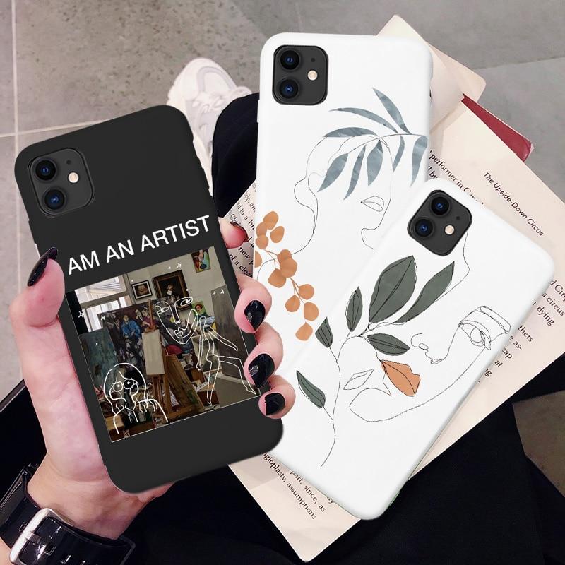 Arte Retro de geometría abstracta funda para teléfono para iPhone X Xs X max Xr 7 Puls 6 6S 7 7 8 Puls SE 2020 11 Por Max lindo cubierta suave de silicona