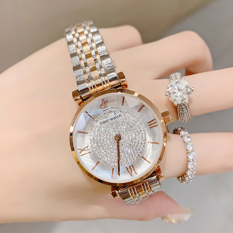 Fashion 2020 Women's Watches Top Brand Luxury Ladies Wrist Watch Waterproof Quartz Watches Starry Diamond Clock Zegarek Damski