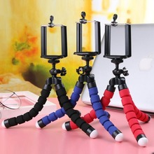 Mobile Phone holder Tripods tripod for phone Mobile camera holder Flexible Octopus Bracket For iPhone Xiaomi Samsung Clip Holder mobile phone holder flexible octopus tripod bracket for mobile phone camera selfie stand monopod support photo remote control
