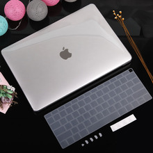 Redlai Crystal transparent apple macbook protective case air pro retina 11 13 15 mac 12 with keyboard cover