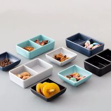 Nordic Creative Sauce Dipping Dish Single Handle Imitation Porcelain Soy Sauce Vinegar Saucer Cute Colorful Tomato Sauce Dish We ceramic sauce dish home soy sauce dish snack sauce creative cutlery set for home kitchen supplies