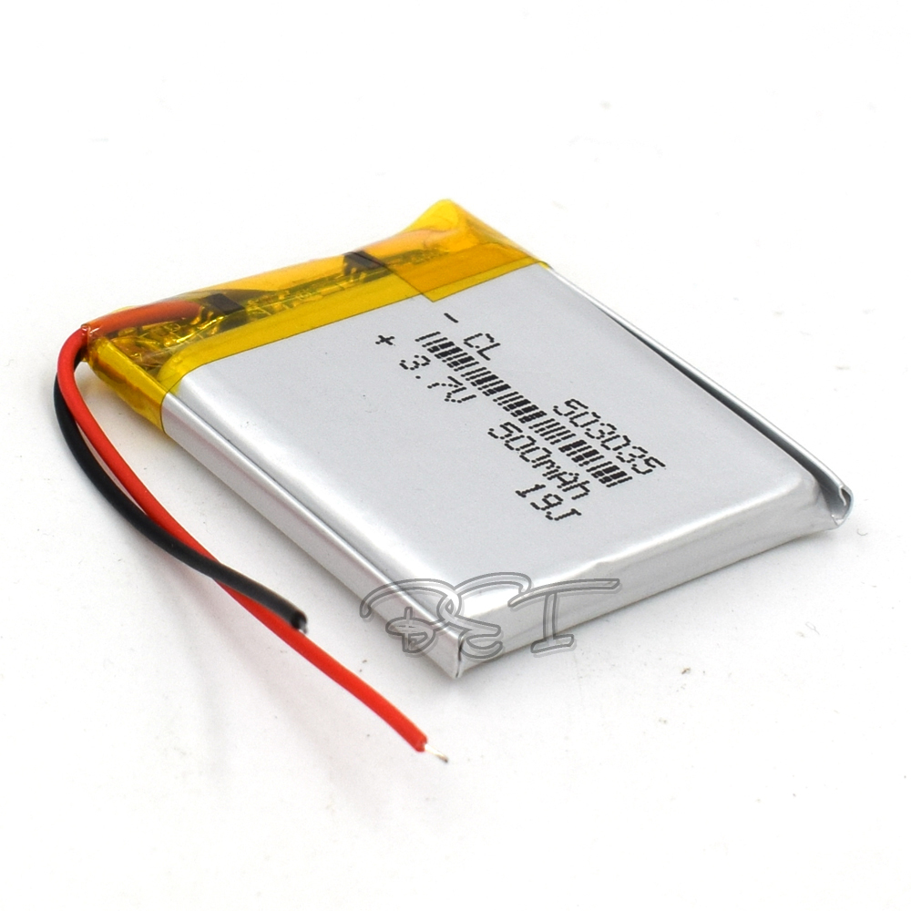 5Pcs <font><b>3.7V</b></font> <font><b>500mAh</b></font> Li-Po Li Ion Rechargeable <font><b>Battery</b></font> <font><b>503035</b></font> Lithium Polymer Cells For Mp3 MP4 MP5 GPS PSP Mobile Bluetooth image