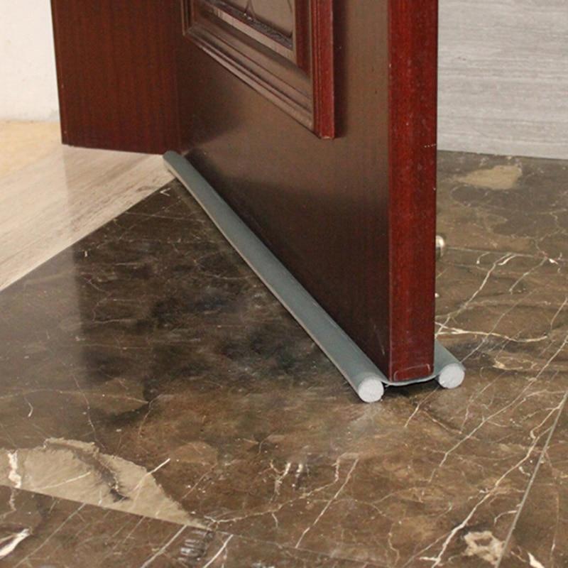95cm Doorstop Draft Protector Flexible Door Bottom Sealing Strip Guard Wind Dust Blocker Sealer Stopper Twin Door Decor