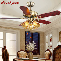 Ventilateur de plafond Ceiling Light Fan Wood Pull rope Decorative Ceiling Fans Grass Lampshade Fan Lamp Ventilador De Techo